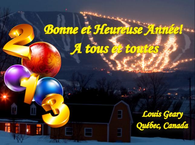 Bonne et Heureuse Année 2013 - A tous et toutes