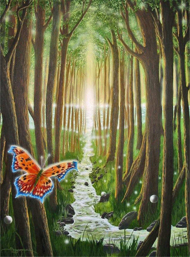 Papillon - Jac Lapointe - Artiste Peintre