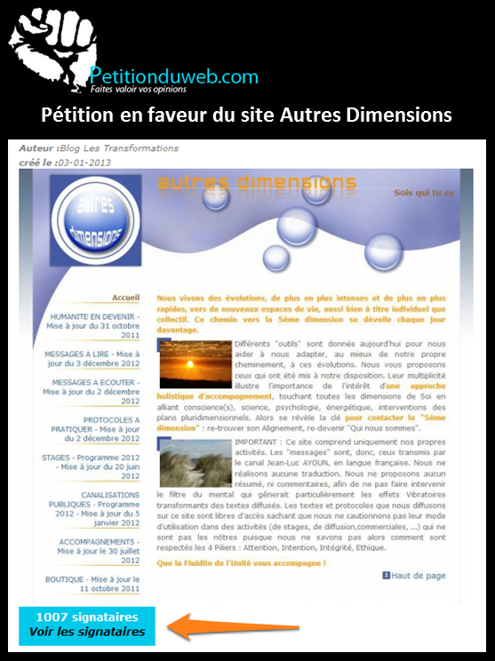 Article Pétition