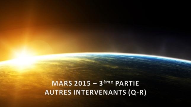 Mars 2015 - 3ème Partie - (Q-R)