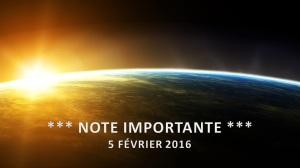 Note Importante - 5 février 2016 - 16x9